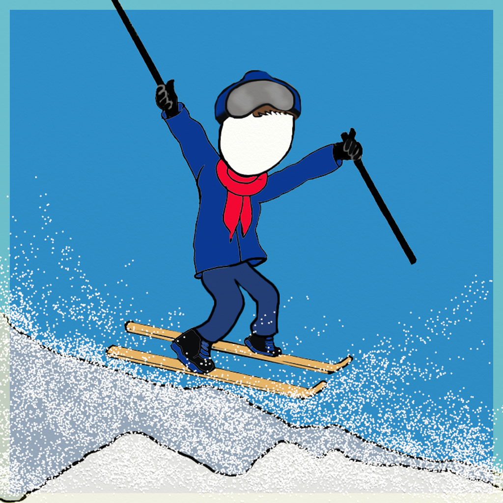 Goes Skiing